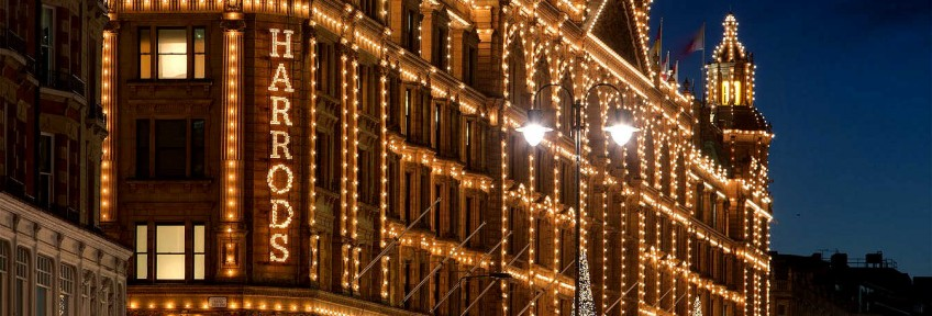 Harrods Harrods - The best shop for your Christmas Gifts Harrods – The best shop for your Christmas Gifts Harrods Kensington Christmas UK London London in Winter Spirit of England Peter Crawford 848x288