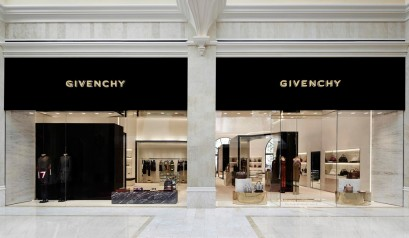 """Givenchy has opened a 3100 sq ft store at the Wynn Resort Promenade in Las Vegas."" first givenchy store in the us First Givenchy Store in the US Opens In Las Vegas Givenchy Las Vegas Store 409x238"