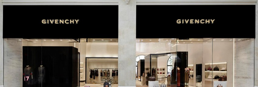 """Givenchy has opened a 3100 sq ft store at the Wynn Resort Promenade in Las Vegas."" first givenchy store in the us First Givenchy Store in the US Opens In Las Vegas Givenchy Las Vegas Store 848x288"