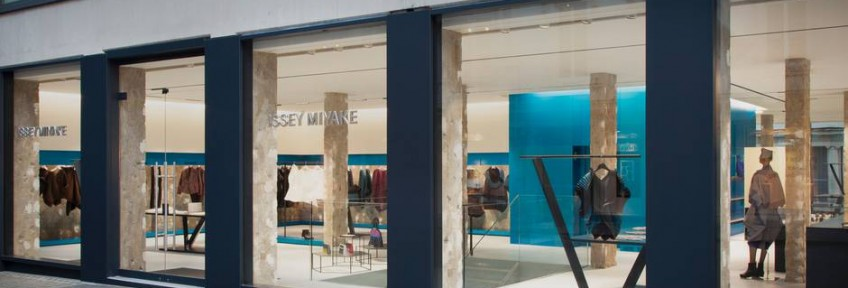 Issey Miyake's New London Flagship Store Issey Miyake's New London Flagship Store Issey Miyake's New London Flagship Store Issey Miyakes New London Flagship Store 07 848x288
