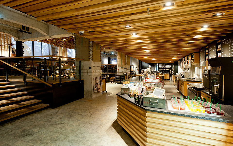 The most beautiful starbucks store the bank in amsterdam for Interieur design amsterdam