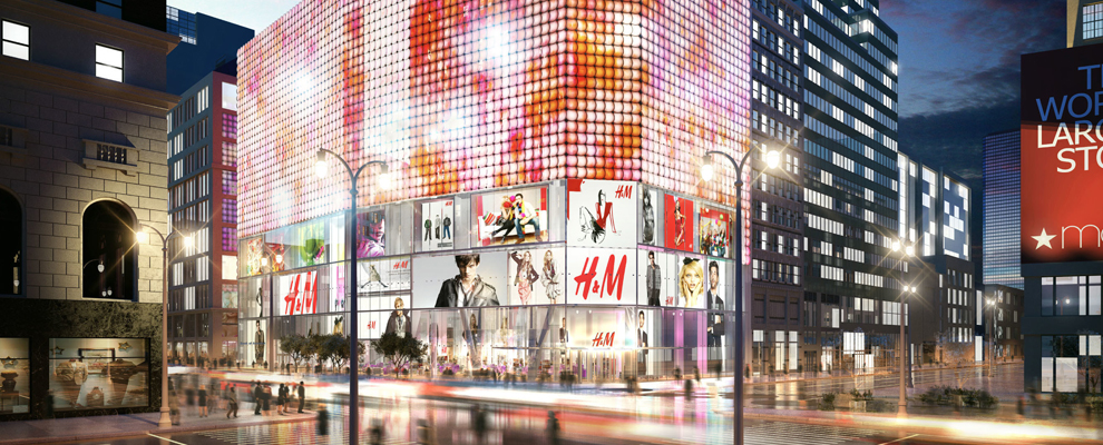 The great opening of H&M STORE in NY