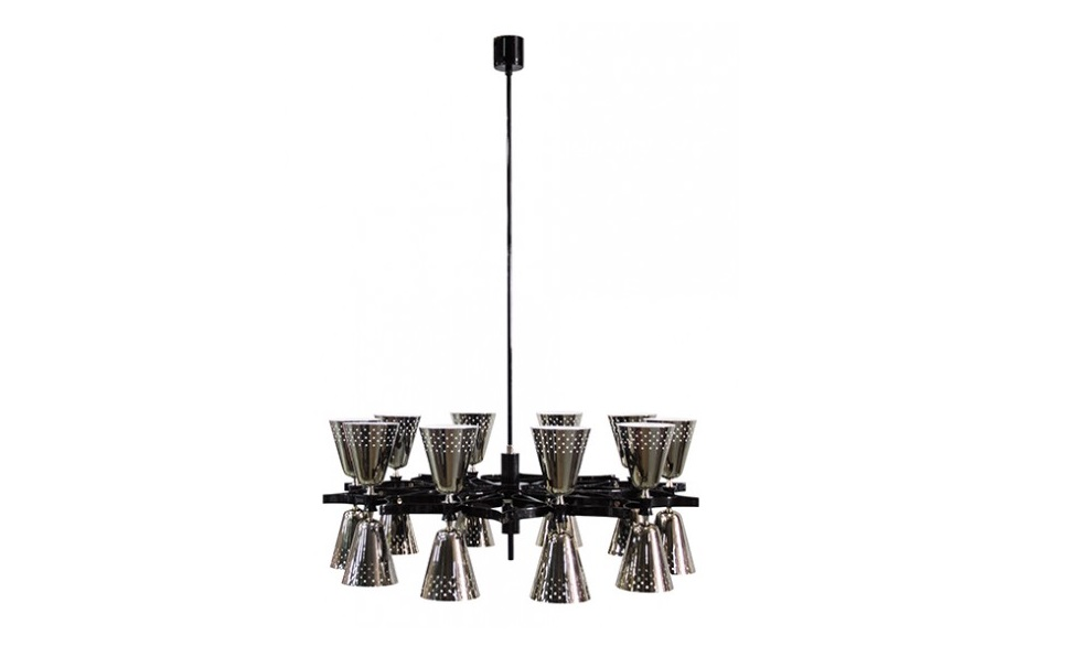 http://www.delightfull.eu/en/ maison et objet HIND RABII RELEASES ITS NEW LIGHTING COLLECTION MAISON ET OBJET 2017 charles architectural round ceiling fixture nikel chandelier 06