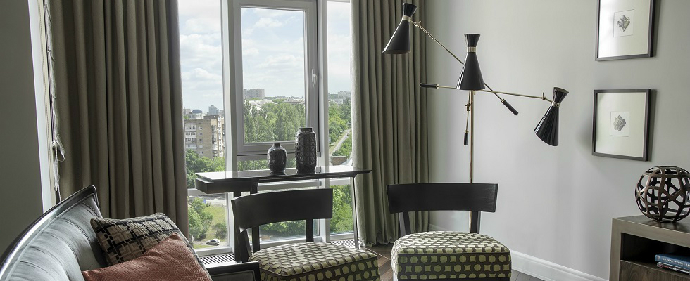 Get Inside An Art Deco Apartment with American Touch in Kyiv