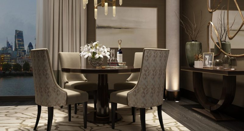 Discover The Best Luxury Match At LuxDeco luxury luxdeco Discover The Best Luxury Match At LuxDeco Dining Room The Riverside Apartment e1552317492246